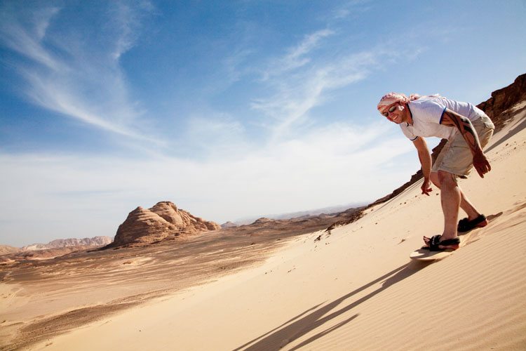 Adventure Holidays in Dahab Sand Boarding