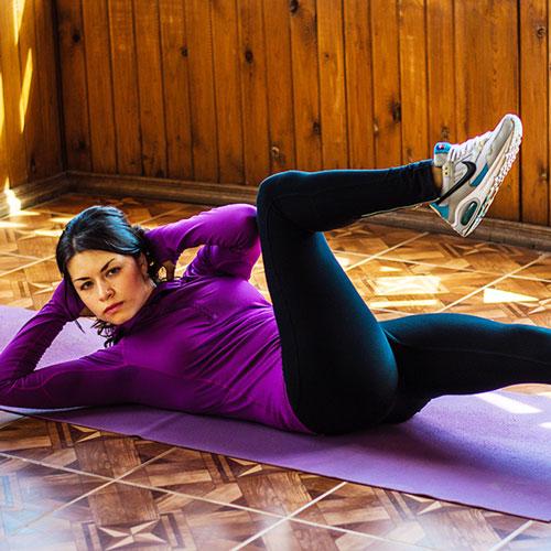 Fitness instructor Regina