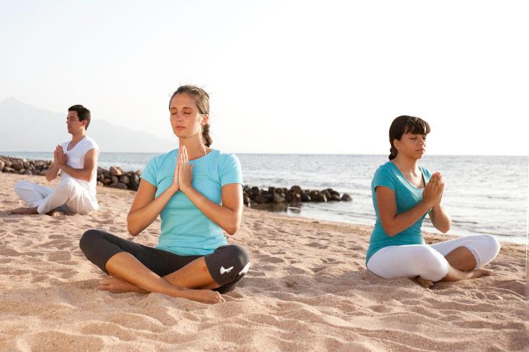 Beach meditation at Coral Coast
